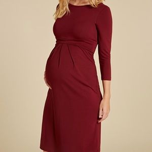 Isabella Oliver Ivybridge maternity dress in red